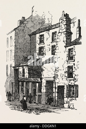 THE BRITISH ASSOCIATION AT DUNDEE: HOUSES IN OVERGATE, UK, 1867 - Stock Photo
