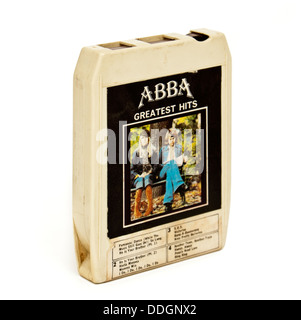 'Abba Greatest Hits' vintage 8-track stereo music cartridge from the 1970's - Stock Photo