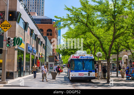 The Pedestrianized 16th Street Mall In Downtown Denver