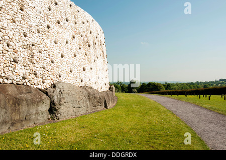 Newgrange is a prehistoric monument in Ireland, It was built about 3200 BC during the Neolithic period. - Stock Photo
