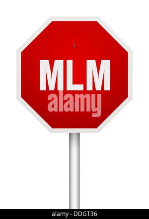 MLM Stop Sign - Stock Photo