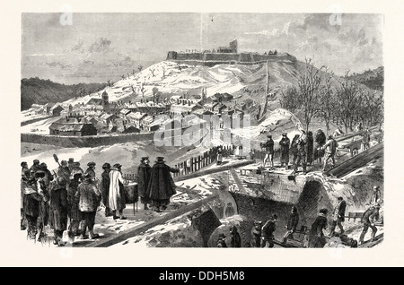 FRANCO-PRUSSIAN WAR: THE CITY AND THE FORTRESS  MONTMEDY, DECEMBER 15 1870 - Stock Photo