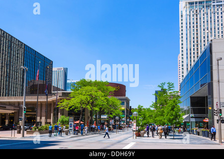 the pedestrianized 16th street mall in downtown denver. Black Bedroom Furniture Sets. Home Design Ideas