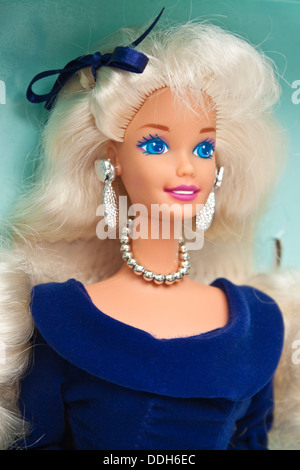 1995 'Winter Velvet' Barbie Doll (Exclusive Avon Special Edition) by Mattel (No 15571) - Stock Photo