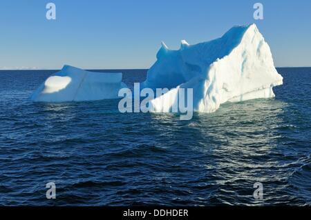 iceberg at Davis Strait off Baffin Island, Nunavut, Canada, Arctic - Stock Photo