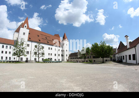 Germany: Courtyard of the New Castle in Ingolstadt - Stock Photo