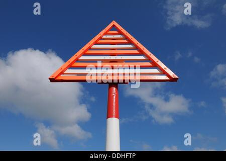 Beacon at elbow, Navigation marks, Germany, Schleswig Holstein, Sylt, List, Elbow, North Frisian Islands, North - Stock Photo