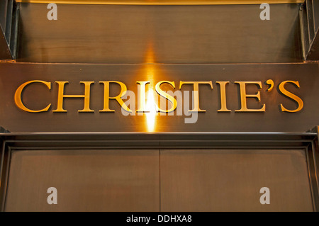Logo, lettering, Christie's auction house - Stock Photo