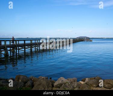 Public Fishing Pier On Dock Street In Cedar Key Florida