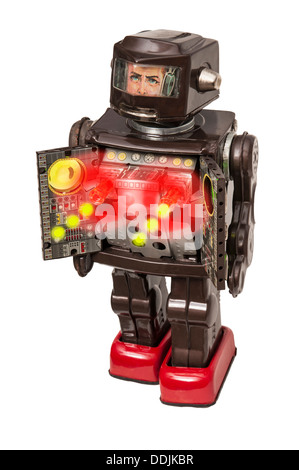 Vintage Toy Robot with machine gun compartment - Stock Photo