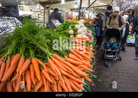 Turkish market at Maybachufer in Berlin Kreuzberg , Germany - Stock Photo