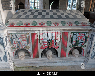 Tomb of John Sydenham, Brympton d'Evercy - Stock Photo