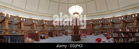 Liverpool central library Picton reading room panorama - Stock Photo