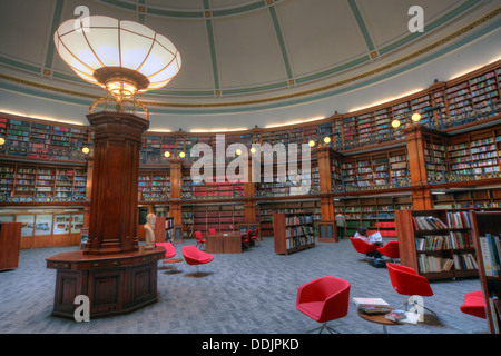 Liverpool central library Picton circular reading rooms - Stock Photo