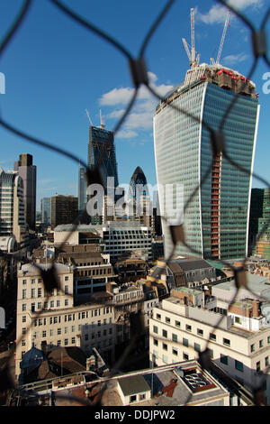 The 'Walkie Talkie' 'The Pint' while still under construction, 20 Fenchurch Street, London England, United Kingdom - Stock Photo