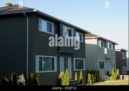 Well-kept rental housing units in Vancouver, BC, Canada - Stock Photo