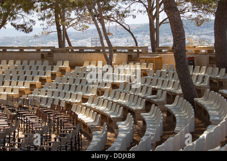 An open air theatre within the walls of the Fortezza fortress in Rethymno, Crete. - Stock Photo
