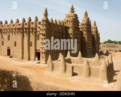 Great Mosque. Djenné. Mopti region. Niger Inland Delta. Mali. West Africa. - Stock Photo