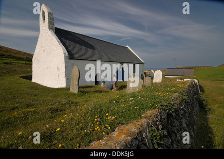 Church of the Holy Cross at Mwnt, Cardigan Wales - Stock Photo