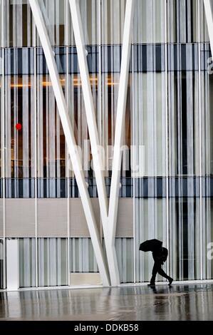 Torre Diagonal Zero Zero by Massip-Bosch architects under construction (2010), new Telefónica (Spanish broadband - Stock Photo