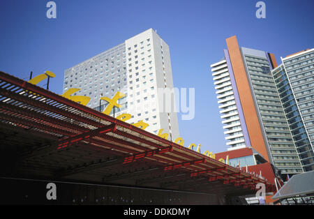 Hotel buildings, Diagonal Mar area, Forum 2004. Barcelona. Spain - Stock Photo