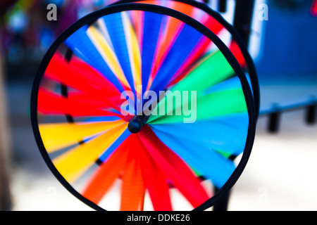 Spinning wheel toy. Warnemunde Germany - Stock Photo