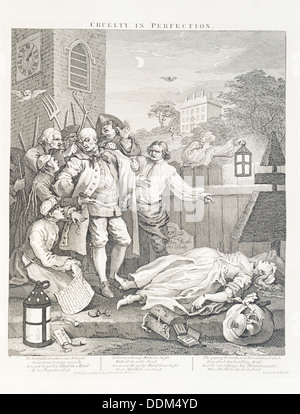 'Cruelty in Perfection', 1751. Artist: Unknown - Stock Photo