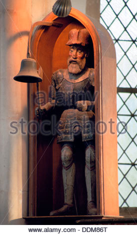 Jack o' the Clock, Holy Trinity Church, Blythburgh, Suffolk. Artist: Derek Anson - Stock Photo