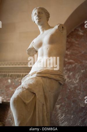 Venus de Milo at the Louvre in Paris, France - Stock Photo