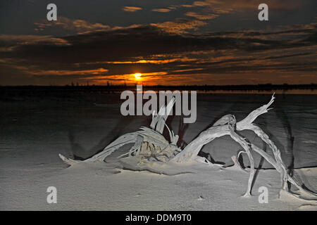 Lake Ninan Salt Lake, Victoria Plains  Western Australia - Stock Photo