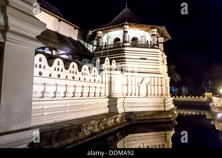 Temple of Tooth of Buddha. Kandy in Sri Lanka. - Stock Photo