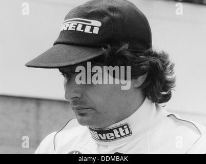 Nelson Piquet at the British Grand Prix, Silverstone, 1985. - Stock Photo
