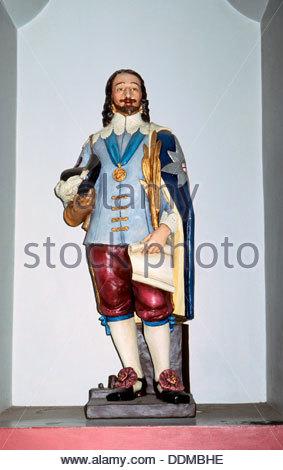 King Charles the Martyr, Walsingham, Norfolk. Artist: J Allen - Stock Photo