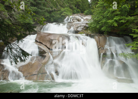 Clayton Falls near Bella Coola, British Columbia - Stock Photo