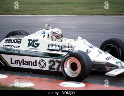 Alan Jones racing a Williams-Cosworth FW07B, British Grand Prix, Brands Hatch, Kent, 1980. - Stock Photo