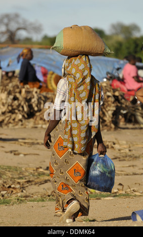 African market scenes Tanzania collection - Stock Photo