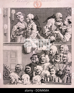 'The laughing audience', 1733. Artist: William Hogarth - Stock Photo
