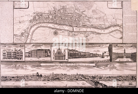 City of London, c1560, (c1750). Artist: Anon - Stock Photo