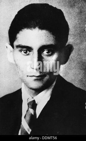 Franz Kafka (1883-1924), Czech writer, c1924. - Stock Photo