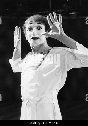 Marcel Marceau (1923-1999), French mime artist, 1967. - Stock Photo
