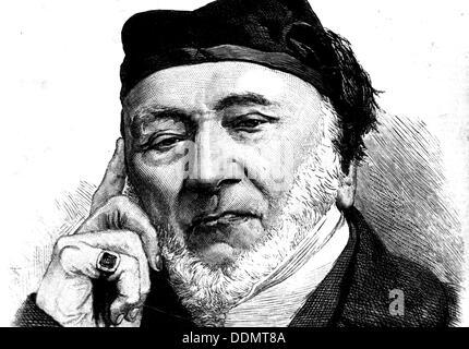 Sir Moses Montefiore (1784-1885), Jewish banker and philanthropist, 1872. - Stock Photo