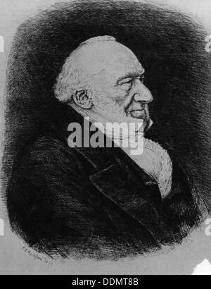 Sir Moses Montefiore (1784-1885), Jewish banker and philanthropist. - Stock Photo