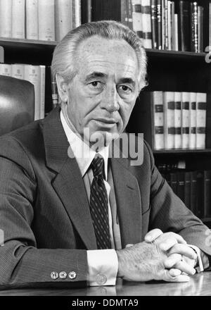 Shimon Peres (1923- ), Deputy Prime Minister of Israel and Labour Party leader. - Stock Photo