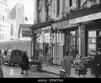 Algerian Jews' shop attacked in Paris, 11 April 1958. Artist: Unknown