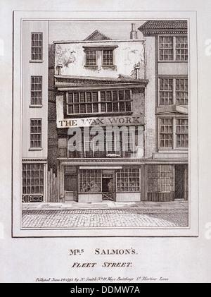 Mrs Salmon's Waxworks in Fleet Street, London, 1793. Artist: Anon - Stock Photo