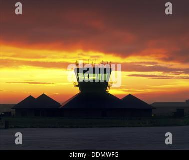 Air Traffic Control Tower RAF Wyton Stock Photo, Royalty Free ...
