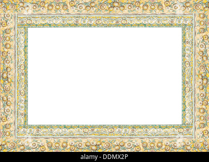Thai frame, China porcelain decorated in Thai blank frame Stock ...