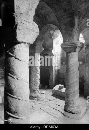 Crypt of St Wystan's church, Repton, Derbyshire. - Stock Photo