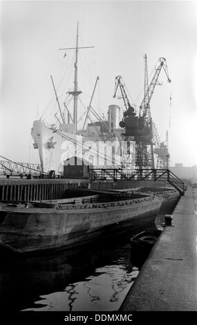 The 'Canton' in King George V Dock, London, c1945-c1965. Artist: SW Rawlings - Stock Photo