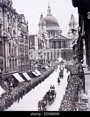 Re-opening of St Paul's Cathedral, London, 1930. Artist: Anon - Stock Photo